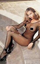 Sexy Da Donna Lingerie Nero Tutina In Rete Tuta 8-uk 14 - It 48