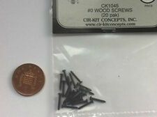 Wood Screws 20pk Black #1045, Doll House Miniature