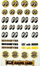 FULL SHEET OF MOONEYES ASSORTED DECALS FOR MODEL CARS HOT RODS MOON SCTA HOT ROD