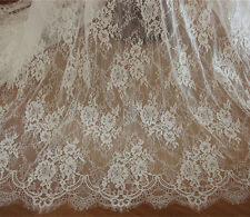 Off White Chantilly Bridal Lace Fabric Bridal Dress Wedding French Lace Fabric