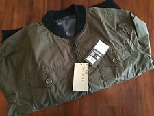 "BURBERRY   BRIT MEN'S ""ABERB""  MILITARY KHAKI REVERSABLE FIELD JACKET(XL) $ 895"