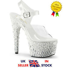Pleaser Adore-708MR-5 Shoes Size 3 36 Sandals Platform High Heels Pole Dancing