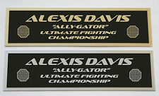 Alexis Davis UFC nameplate for signed mma gloves photo or case