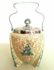 Art Deco Wilkinson Celtic Patricia Bluebell Chintz Rocket Biscuit Barrel C.1930s