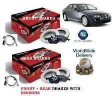 FOR ROVER 75 ALL MODELS 99  FRONT REAR BRAKE DISCS SET + DISC PADS KIT& SENSORS