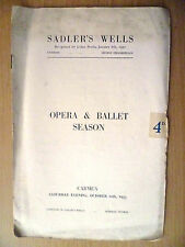 .1953 Sadler's Wells Opera and Ballet Season Programme: CRMEN (BIZET)