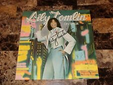 Lily Tomlin Rare Hand Signed Grammy Winner Vinyl LP On Stage Stand Up Comedy WOW