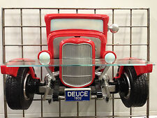 1932 Ford Roadster Resin Wall Shelf, Red
