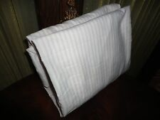 """AMERICAN HOMES & TEXTILE BLUE & WHITE PINK TICKING STRIPE TWIN FITTED SHEET 10"""""""