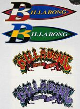 BILLABONG 4 SURF STICKERS Surfing Decals NOS Rare OG surfboard skate art patch