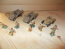 1/72 HO/OO SCRATCH BUILT WW11 BRITISH DESERT PATROL- 3 TRUCKS 8 FIGURESEE PHOTOS