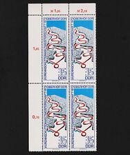1973 Germany DDR Bobsled Track Sc#1450 Numeral Corner Margin Mint never Hinged V