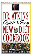 Dr. Atkins' Quick and Easy New Diet Cookbook, By Robert C. Atkins,in Used but Ac