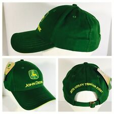 New With Tag John Deere Logo Adjustable Green Hat Cap