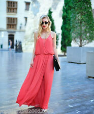 ZARA CORAL EVENING MAXI DRESS SIZE MEDIUM
