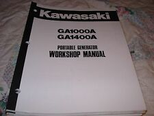 Kawasaki GA1000A GA1400A Portable Generator Workshop Manual P/N 99924-2012A