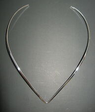 Sterling Silver- 925- 3mm-V-Shape Necklace Collar/Choker/Cuff/Wire