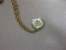 LADY NELSON SWISS MADE PENDANT NECKLACE WATCH W/GOLDTONE CHAIN