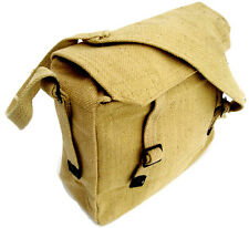 MILITARY MESSENGER BAG Heavy duty canvas satchel Desert sand Army haversack