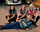 JOHN FORCE & DAUGHTERS NHRA FUNNY CAR DRAG RACE RACING 8X10 PHOTO - MUST HAVE!