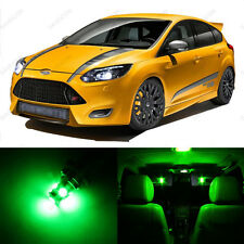 7 x Green LED Interior Light Package For 2012 - 2014 Ford Focus