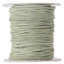 Necklace Bracelet Cord, Faux Vegan Leather, Suede Lace, Olive Green, 30 ft