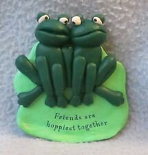 2 Frogs Friends Are Happiest Together 3D Magnet, Travel, Refrigerator