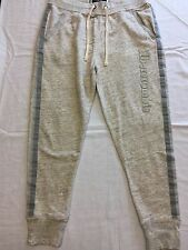 Abercrombie & Fitch Women's Jogger Sweatpants L/Large NWT $68 Heather Gray