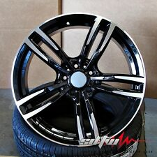 "20"" Style 437 BMW Wheels fits 5 6 Series M6 Sport Black Machined Rims"