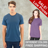 Unisex ORGANIC Short Sleeve Crew T-Shirt Royal Apparel Alternative American Tee
