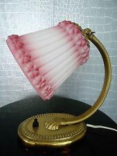 Nachttischlampe Jugendstil / Art Deco  Messing  Glas  / Bedside Lamp Vintage