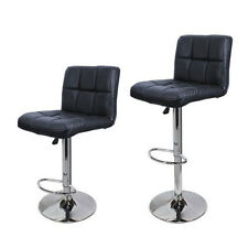 2 Pieces PU Leather Counter Swivel Bar Stool Pub Barstool Chairs Adjustable
