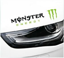 Amazing Monster Headlight Eyebrow Car Stickers Decals Graphic (Black ,Right)