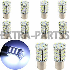 10x 1156 BA15S RV Trailer Interior 12V LED Lights Bulbs 54 SMD 6000K Xenon White