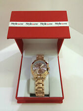 NEW ARRIVAL! STYLE & CO ROSE GOLD-TONE BRACELET BOYFRIEND WATCH SC1381 SALE
