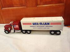 ERTL Weil McLain 1:24 Red Diecast GMC Semi Truck 18 Wheeler