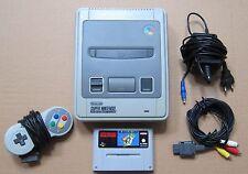 SNES SUPER NINTENDO console per videogiochi + MARIO WORLD GIOCO