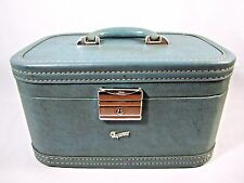 VTG Mid Century SKYWAY Cosmetic Case Train Tote Toiletry Makeup Luggage w/Mirror