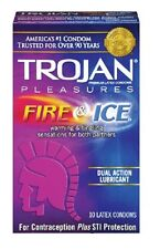 Trojan Pleasures Fire and Ice Condoms 10 Pack