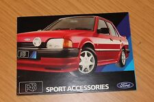 Ford RS Sport Accessories Booklet FD1331 1980's