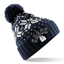 Kronk Boxing ski style bobble hat Navy One size