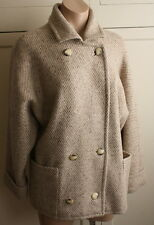 Vintage A Miss Smith Original Made in England Beige Wool Jacket Size 7/8