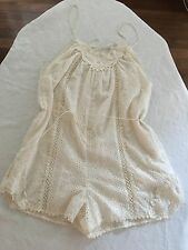 Zimmermann Devoted Ivory Cotton Voile Playsuit  Size 2