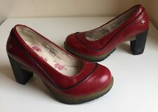Dr Martens Calista Air Cushion Soles Cherry Red Leather Heels Shoes Sz4, EU37
