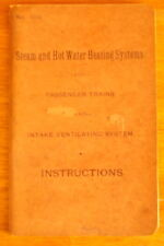 1910 STEAM & HOT WATER HEATING SYSTEMS INSTRUCTIONS PENNSYLVANIA RAILROAD train
