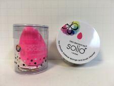 BEAUTY BLENDER SPONGE-1 PINK SPONGE MAKEUP APPLICATOR & SOLID CLEANSER SET