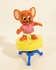 """1989 Jerry Mouse on Drum Stool 3"""" Turner PVC Action Figure Tom & Jerry"""