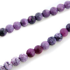 Round Purple Sugilite Gemstone Loose Beads 8mm Strand FASHION