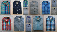 NWT Hollister Classic Plaid Shirt Button Down Mens Muscle Fit By Abercrombie