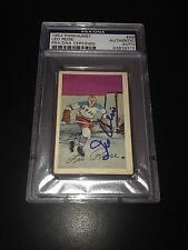Leo Reise Signed 1952-53 Parkhurst New York Rangers Card PSA Slabbed #83839315
